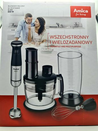 Blender ręczny Amica BL 6016 moc 800w malakser