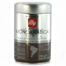 Кава в зернах Illy Monoarabica Brazil 100% арабіка 250 г (ж/б)
