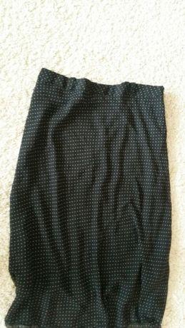 NOWA czarna spódnica w groszki M