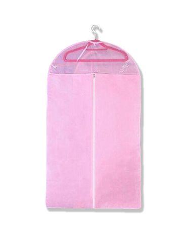 Чехол/кофр для хранения одежды флизелиновый 58х88 см розовый