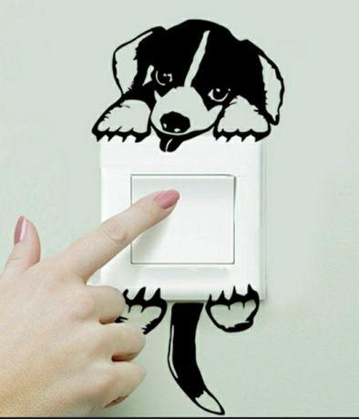 Cão Pendurado no Interruptor.