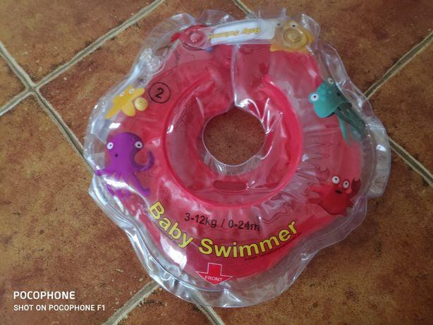 Baby swimmer kółko kołnierz dla niemowląt 3-12 kg