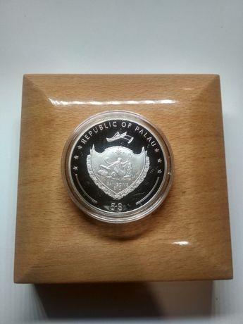 "Серебряная монета ""Republic of Palau"", Республика Палау, серебро."