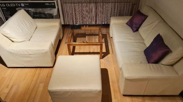Zestaw ETAP Sofa, Fotel, Pufa i stolik kawowy - meble do salonu