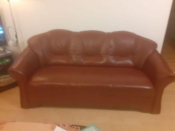 Komplet sof/kanap nierozkładanych skórzanych/kanapa sofa skórzana fote