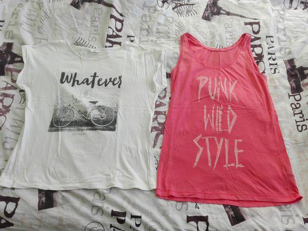 H&M różowa i biała bluzka