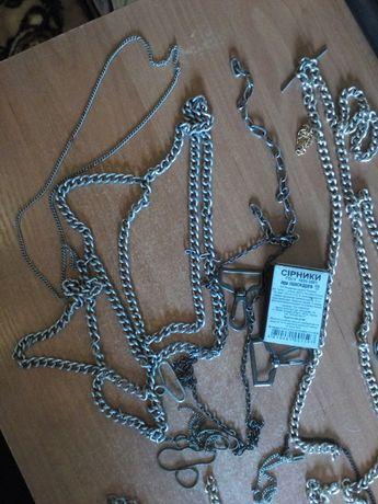 Продам цепочки и фрагменты цепочек из простого металла