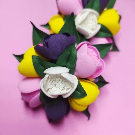 Аксессуары для девочек ручной работы: бантики, заколки, ободки резинки
