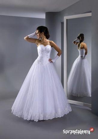 Sukienka ślubna princesska model Pepina z kamieniami Svarowskiego