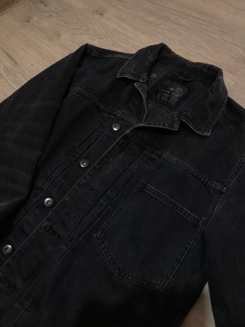 Куртка джинсовая черная джинсовка зара zara размер М