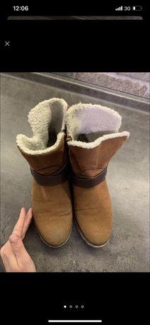 Теплые ботинки, сапожки, угги. 38