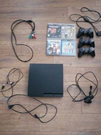 PS3 kompletny zestaw - 3 pady i zestaw move