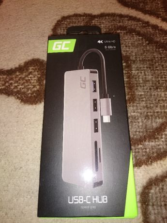 Hub/rozdzielacz, adapter GC USB-C 4K Ultra HD + wejścia kart SD 7 w 1