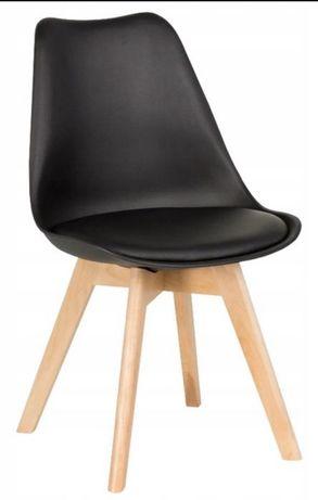 Krzesła krzesło czarne 6 szt