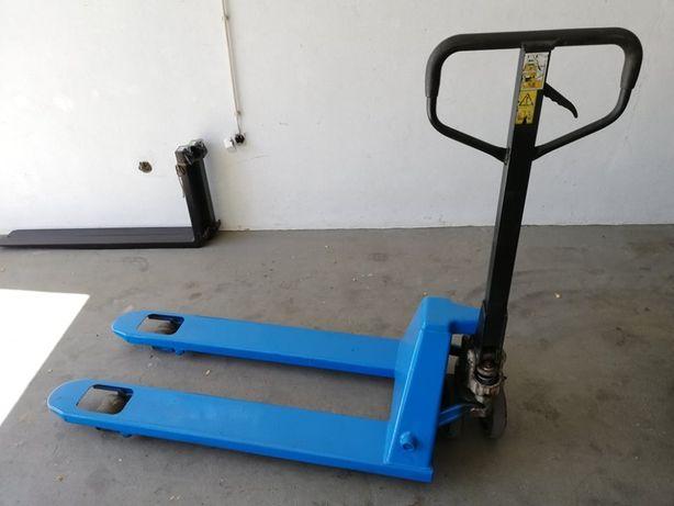 Porta-paletes usado azuis