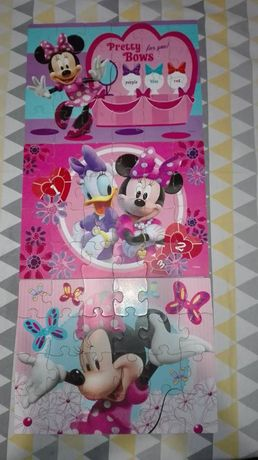 puzzle Minnie 3 układanki