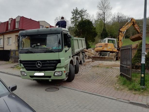 Piasek Kamień Ziemia Gruz Transport Wywóz Wieliczka Myślenice Skawina