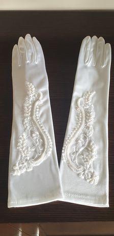 Rękawiczki ślubne - białe