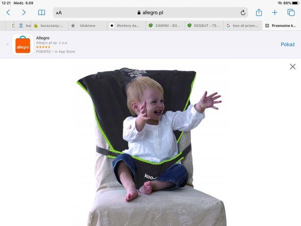 Koo-di przenosne turystyczne krzeselko do karmienia
