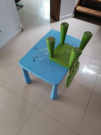 Stolik dzieciny z krzesełkiem Mamut IKEA