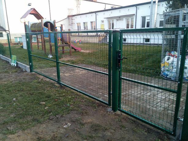 Brama dwuskrzydłowa szerokosć 400cm wysokość 150cm 2 słupki 80x80mmh2m
