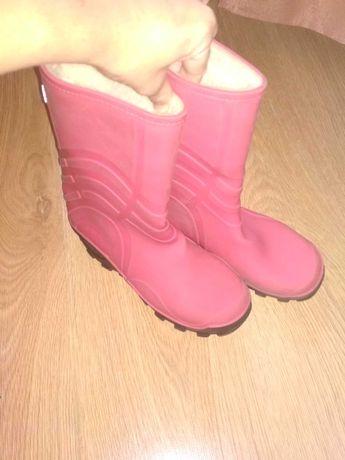 утеплені гумаки гумові чобітки чоботи 35 розмір