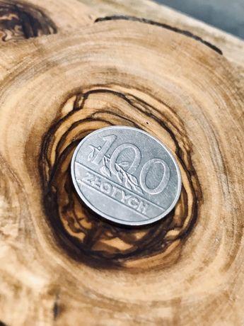 100 zl moneta 1990 stan bdb