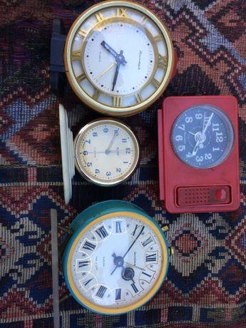 будильники СССР часы настольные