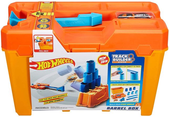 Hot Wheels Track Builder Barrel Box строительная коробка трюков GCF91