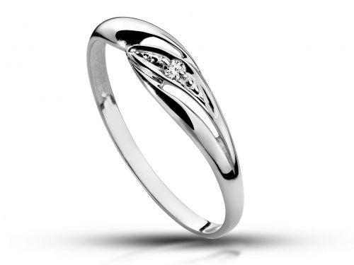Pierścionek białe złoto