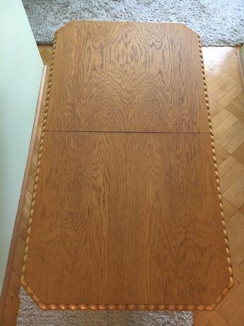 Stół ława rozkładana dębowa