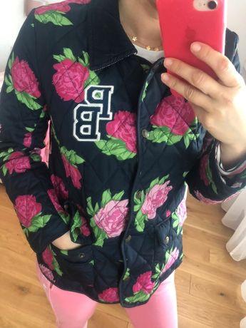 Paul's Boutique Zara pikowana kurtka piwonie S/M