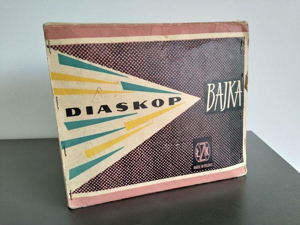 projektor bajek z kompletem slajdów lata 70.