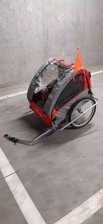 Przyczepka rowerowa dla dzieci 2 osobowa Kindereo