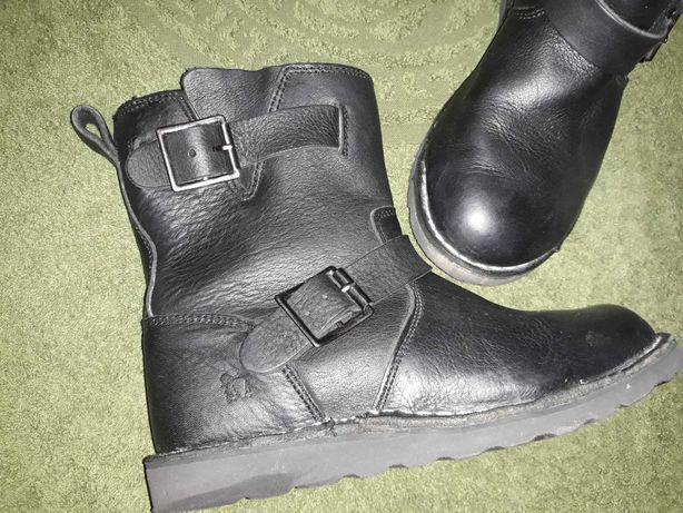 Rugged Gear кожаные сапоги/ботинки/угги зимние 38р
