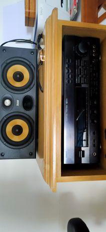 Coluna B&W 120 + Yamaha amplificador