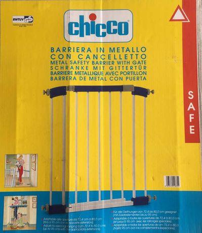 Grade Barreira de segurança com porta marca Chicco (novo)