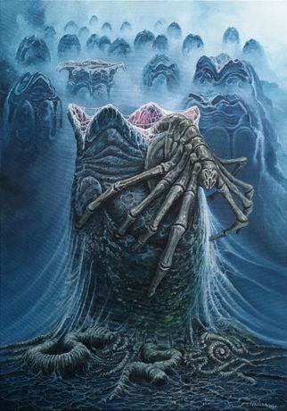 Obraz olejny abstrakcja niebieski obrazy olejne malarstwo obcy