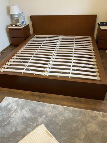 Łóżko rama łóżka Malm Ikea 160x200 z dnem łóżka