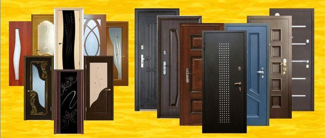 Монтаж, Установка входных и межкомнатных дверей