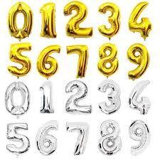 Фольгированная цифра золото, серебро,животные и розовое золото 35 см