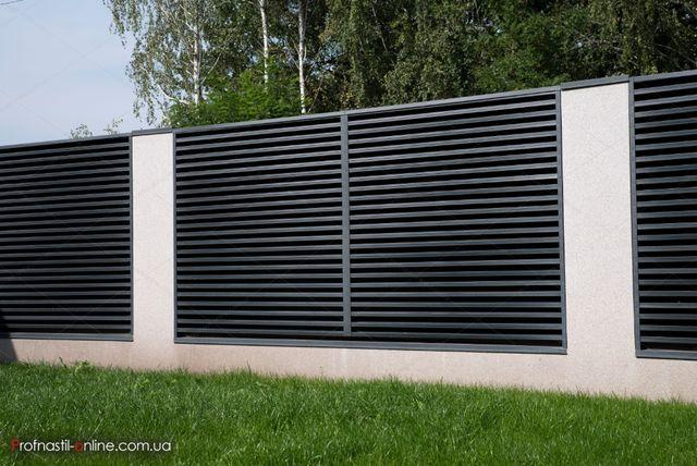 Забор жалюзи, забор металлический, штакет, ламели