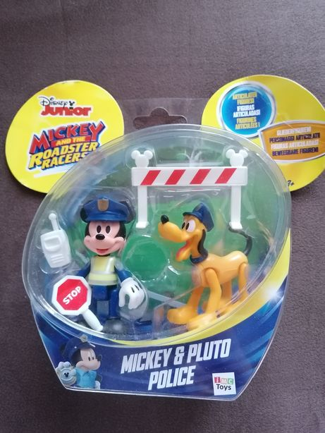 Brinquedos /Bonecos Mickey e Pluto Polícia Novos