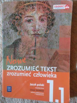 J. polski - Zrozumieć tekst. Zrozumieć człowieka 1.1