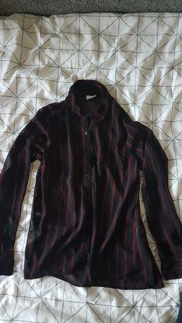 Koszula Vila paski czarna burgund 36 38