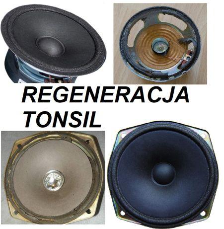 TONSIL GDM 10/60 Regeneracja głośnik GDM 12/60 Unitra Altus membrana