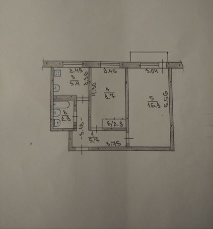 Обмен 2-х комнатная квартира
