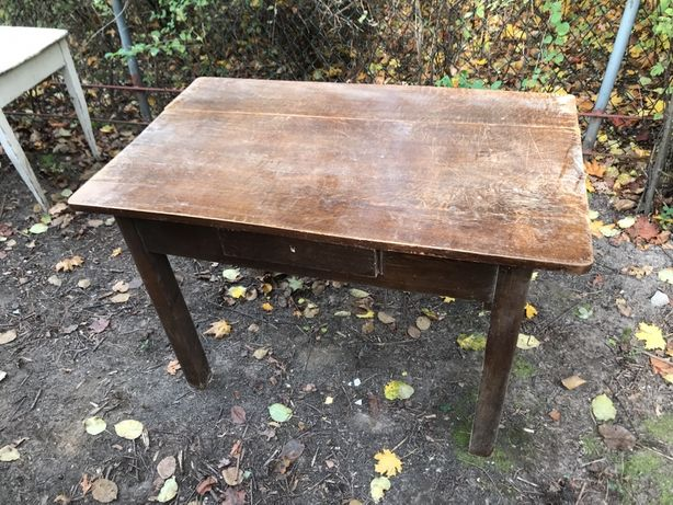 Stół / biurko dębowy przedwojenny lity dąb