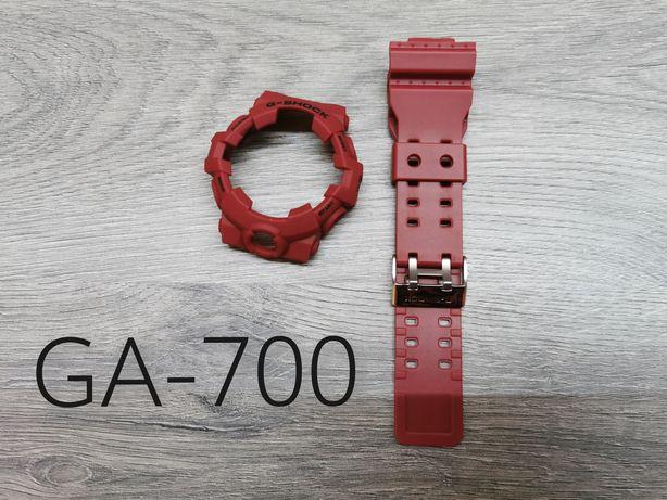 Pasek + Bezel G-shock GA700 CZERWONY
