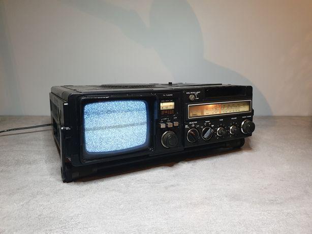 Hitachi K-50E Radio/tv/deck/recorder-combo lat 80', vintage, ciekawy !